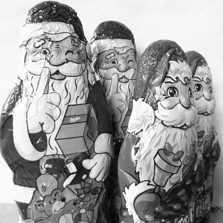 Nicholas, Santa Claus, Christmas, Chocolate