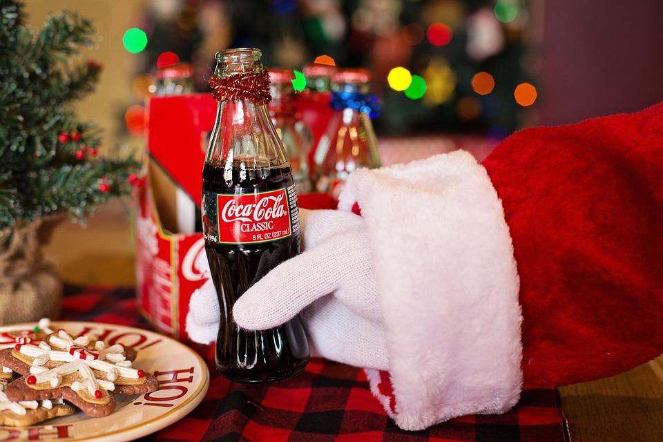 Santa Claus, Santa, Coke, Cola, Refreshments, Christmas