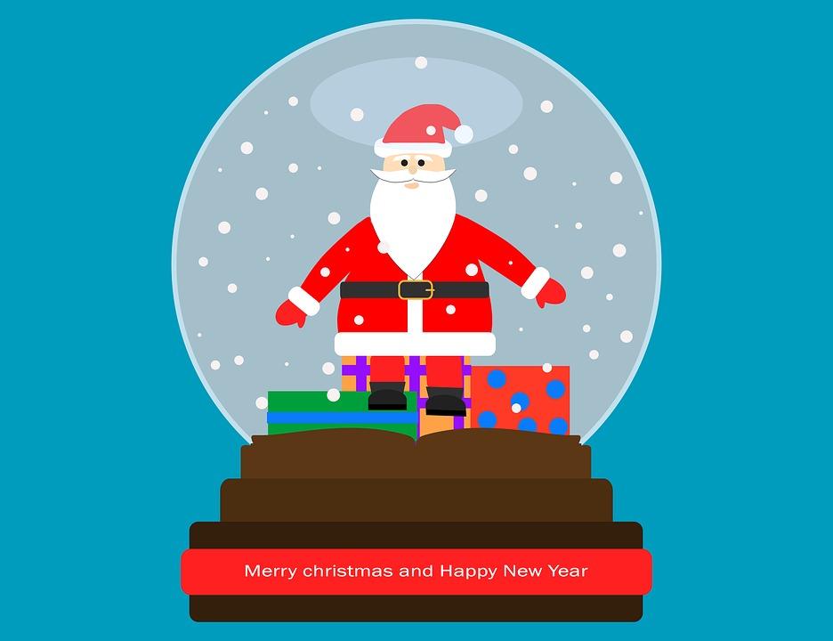 Christmas, New Year, Santa Claus, Snow, Snow Ball