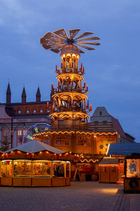 Christmas Market, Christmas, Advent, Shining, Windspiel