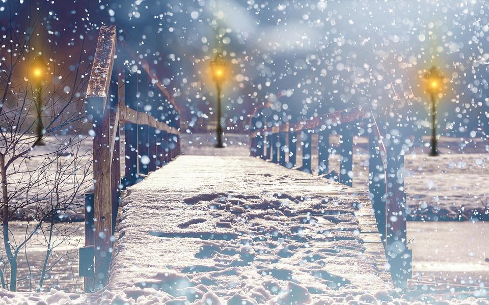Free photo Christmas Snow Lights Lantern Light Mood Snowfall - Max Pixel