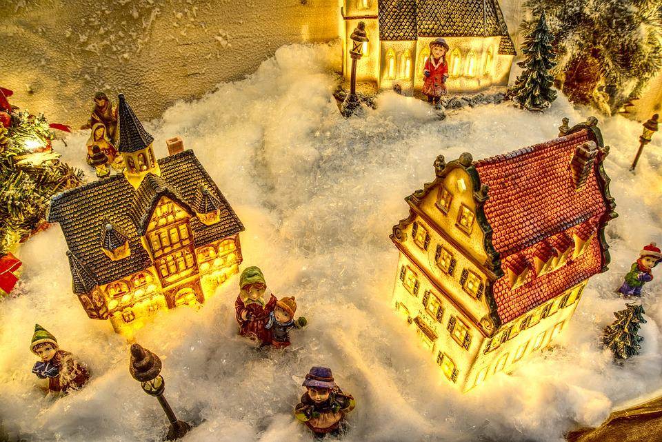 Christmas, Model, Modelling, Christmas Village, Snow