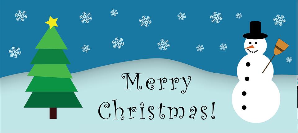 Winter, Christmas, Snow, Snowman, Pine Wood, Holiday