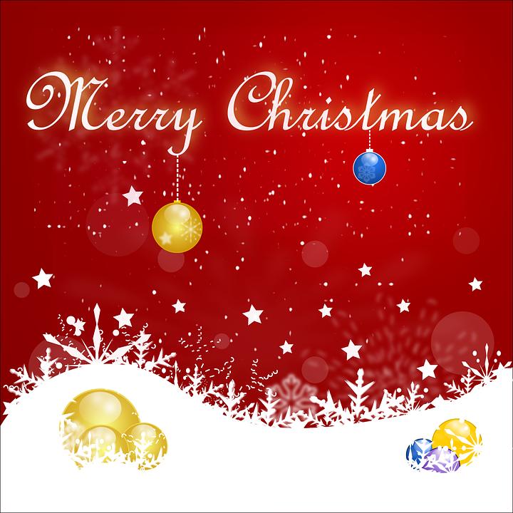 Christmas, Card, Snowflake, Christmas Card, Mery, Red