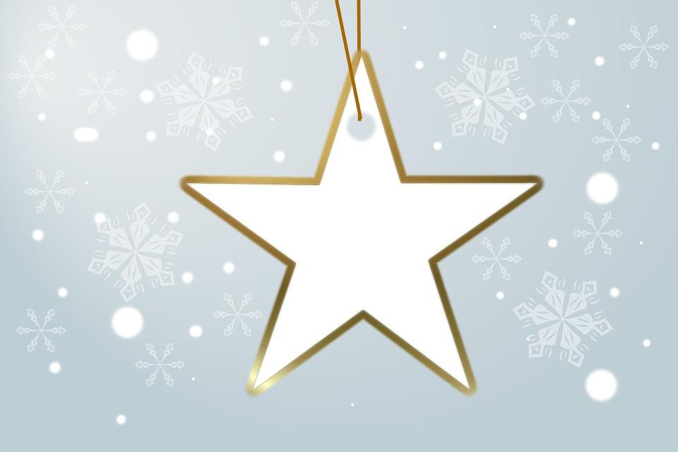 Star, Snow, Christmas, Christmas Greeting