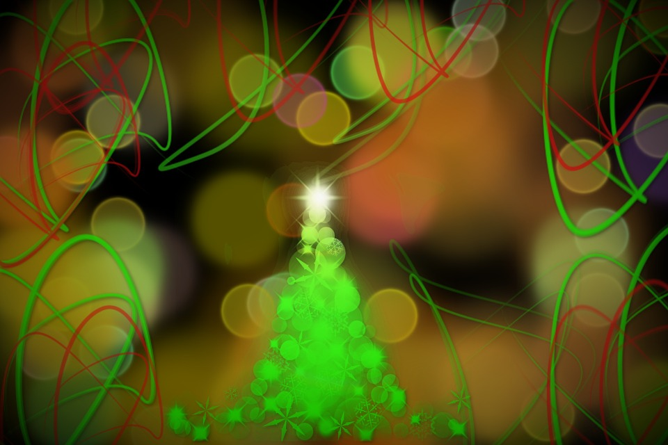 Christmas Tree, Background, Abstract, Christmas, Advent