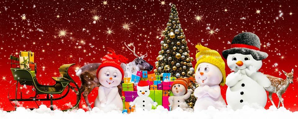 Christmas, Christmas Tree, Snowman, Family, Give, Joy