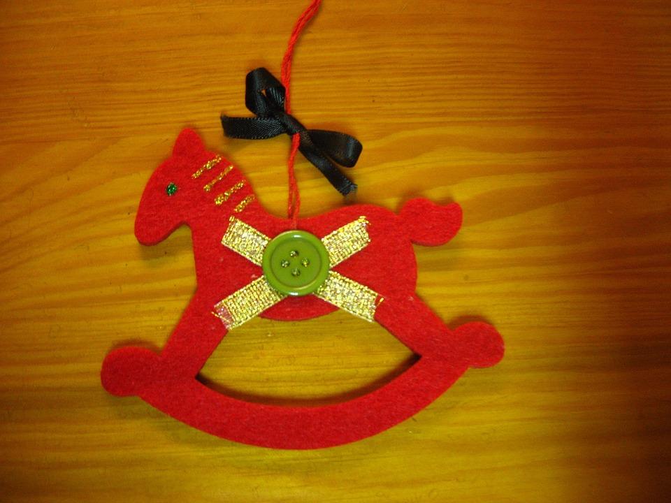The Horse, Konik, Holidays, Christmas Tree, Pendant