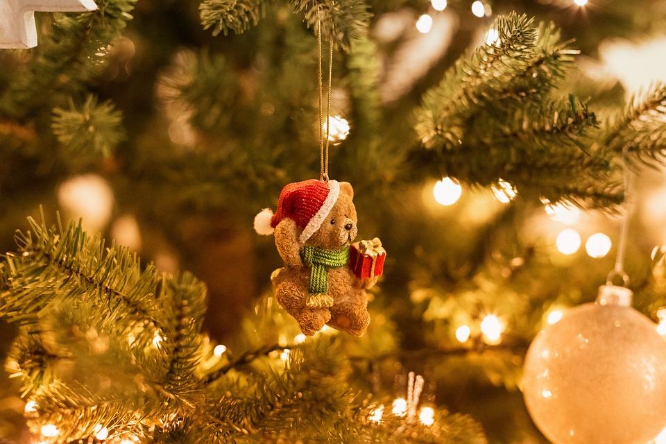 Christmas Tree, Bear, Decoration, Christmas, X-mas