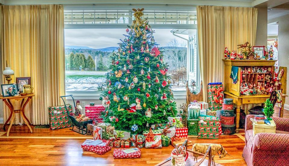 Traditional Home, Decorations, Christmas Tree, Xmas