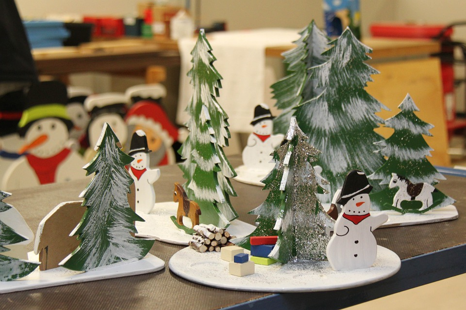 Christmas, Snowmen, Workshop, Santa Claus Workshop