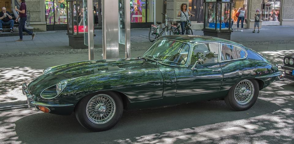 Jaguar, E Type, Auto, Classic, Oldtimer, Chrome