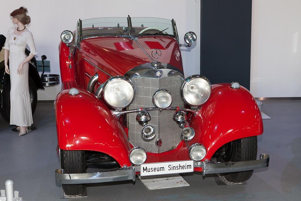 Sinsheim, Museum, Auto, Chrome, Paint, Historically