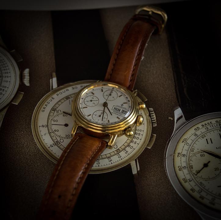 Wrist Watch, Chronograph, Clock, Minutes, Pointer