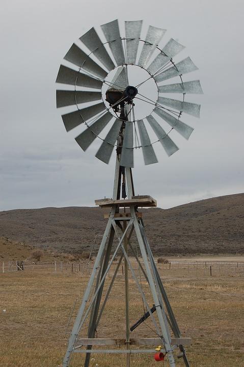Mill, Field, Chubut, Landscape, Patagonia