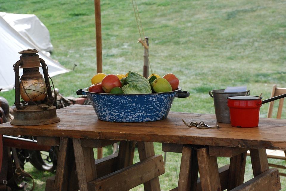 Still Life, Fruit, Food, Lantern, Old, Chuck Wagon