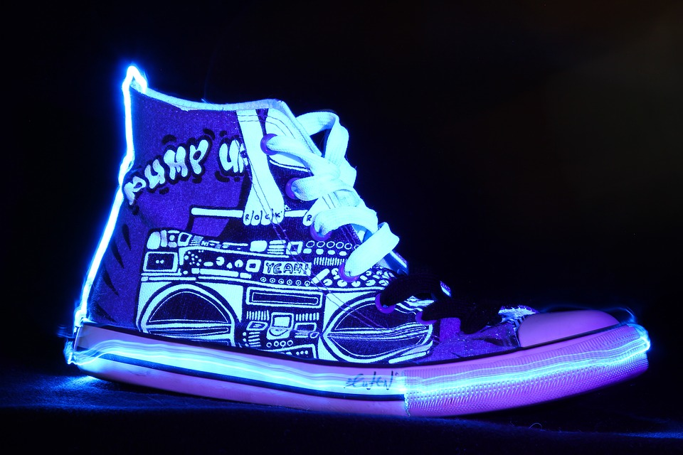 Light Painting, Shoes, Sports Shoes, Chuck's, Leisure