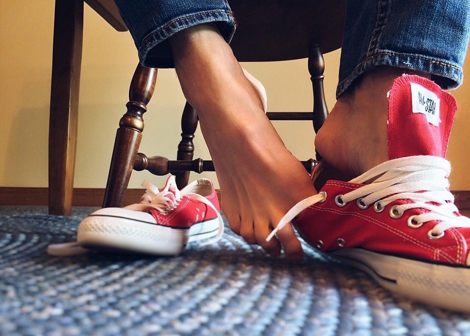 Sneakers, Converse, Chucks, Feet
