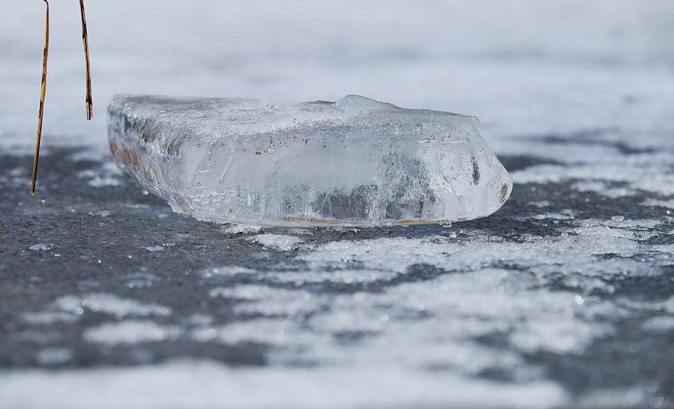 Chunks Of Ice, Frozen Pond, Water, Frozen, Ice Rink