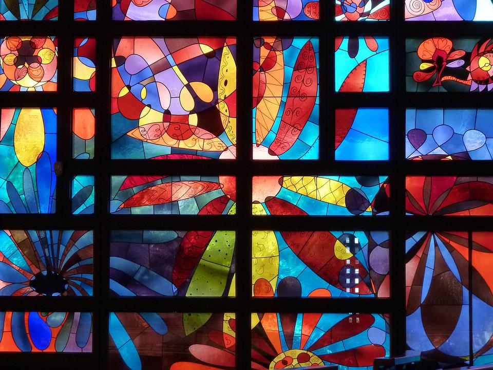 Church Window, Stained Glass, Church Algund, Window