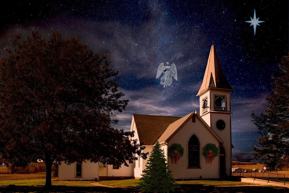 Christmas, Church, Angel