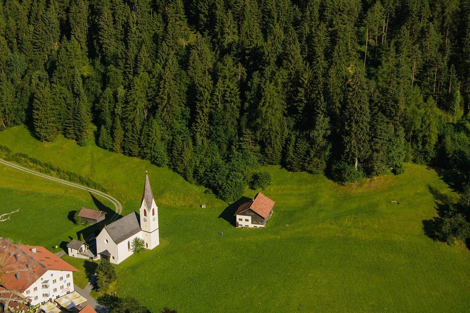 Church, Height, Austria, Landscape, Architecture
