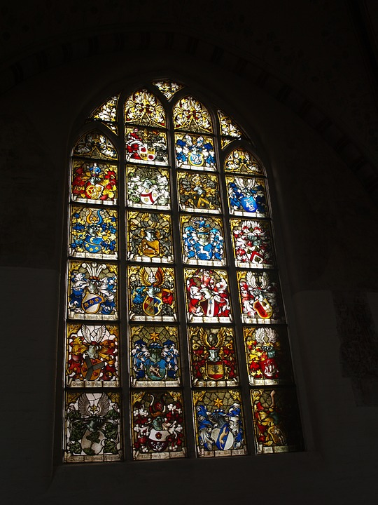 Stained Glass Window, Church, Germany, Architecture