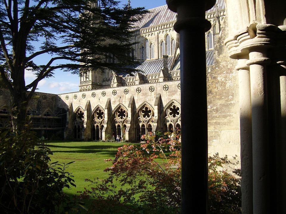 Architecture, Church, Cathedral, Garden, Stonework