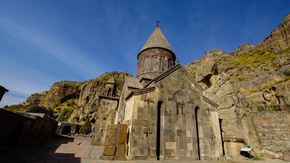 Church, Monastery, Geghard, Armenia, Religion, Old
