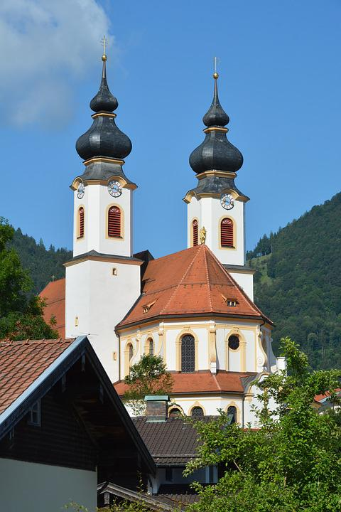 Germany, Bavaria, Aschau, Church
