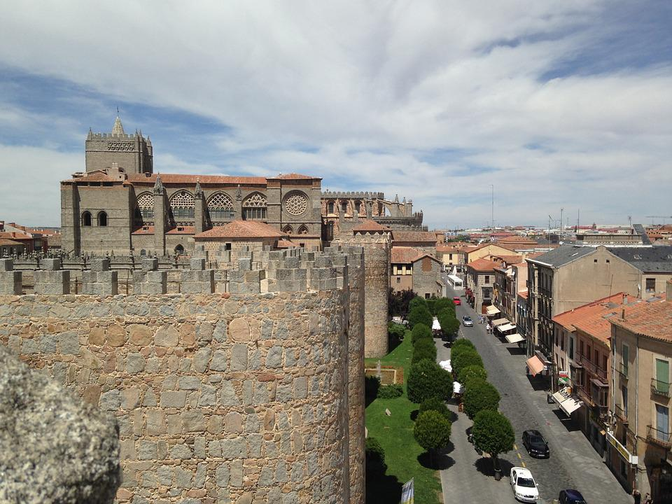 Avila, Cathedral, Wall, Church, Medieval, Stones