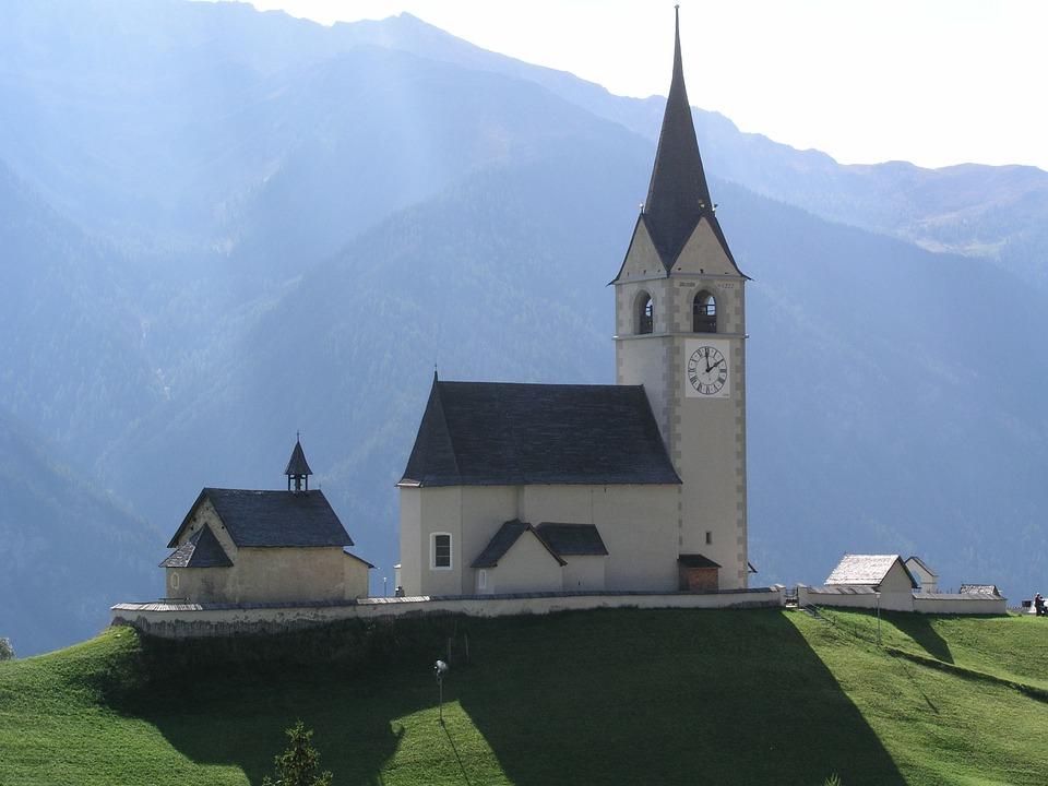 Switzerland, Church, Village Church, Back Light