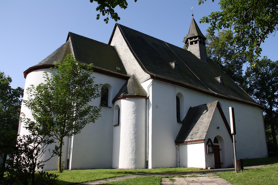 Bad Berleburg, Church, Buildings, Architecture, Trees