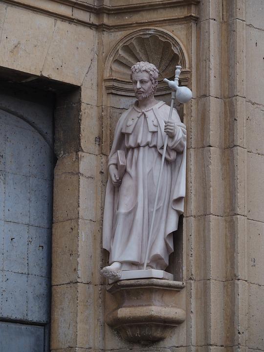 Sculpture, Church, Apostle, Basin