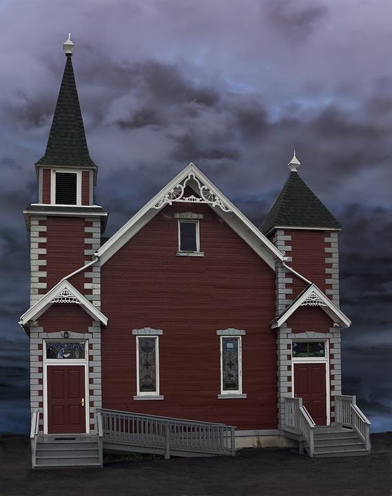 Church, Building, Church Building, Red