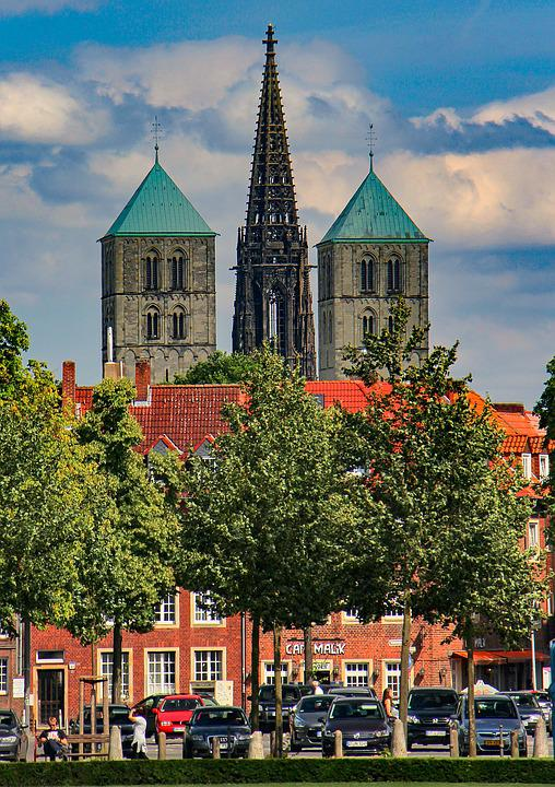 Architecture, City, Travel, Building, Church, Münster