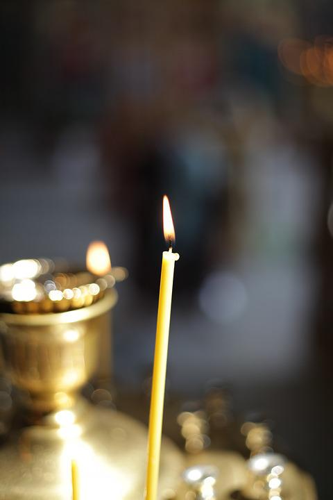 Church, Candle, Burning Candle