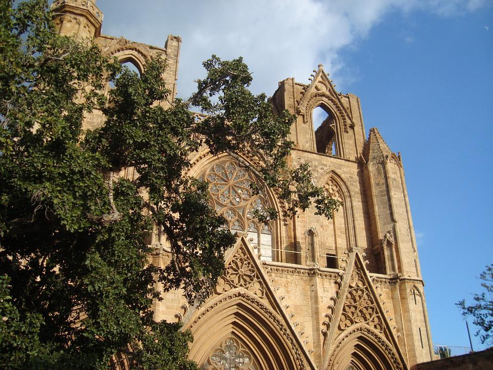 Church, Tree, Castel