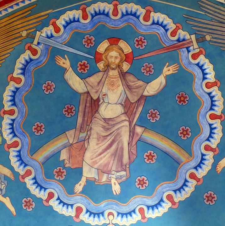 Jesus, Church, Mural, Cover Painting, Faith, Christ