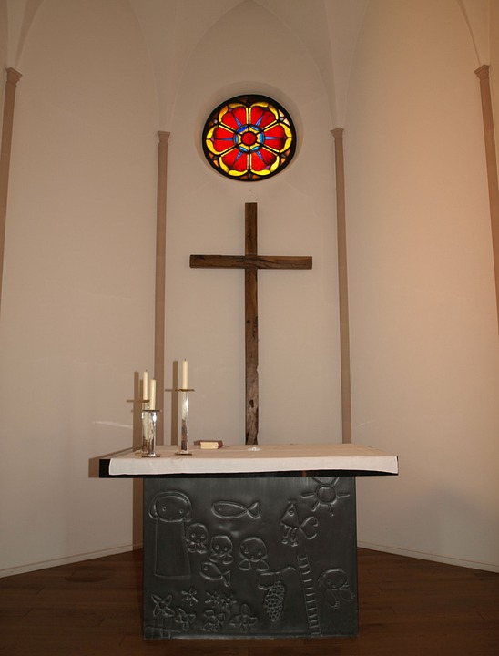 Altar, Church, Protestant, Christian, Luther