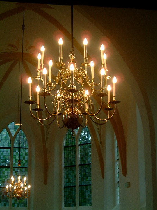 Chandelier, Church, Electricity, Religion, Christianity
