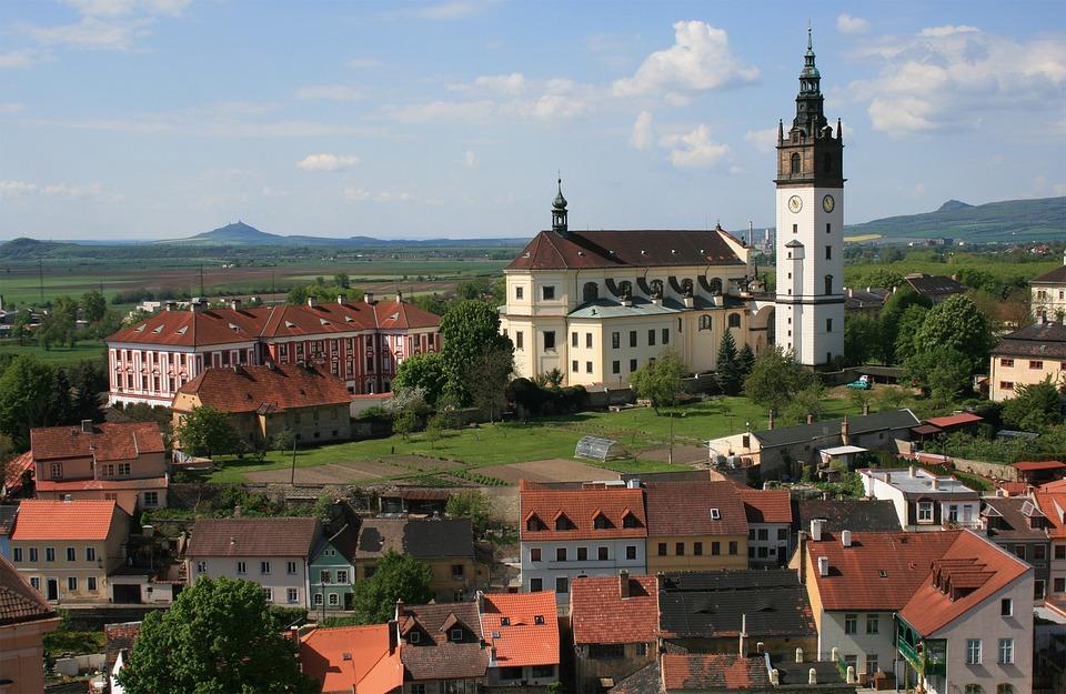 Litomerice, Czech Republic, City, Church, View