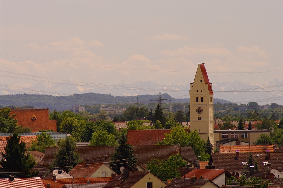 Vöhringen, View, Church, City, Roofs, Distant