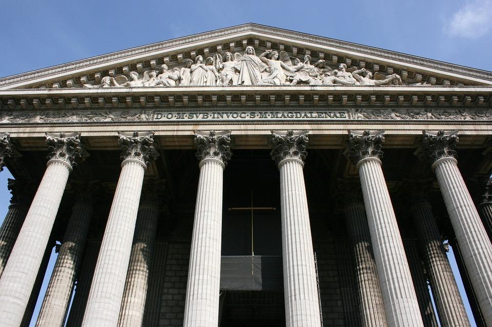 Madeleine, Church, Columns, Paris