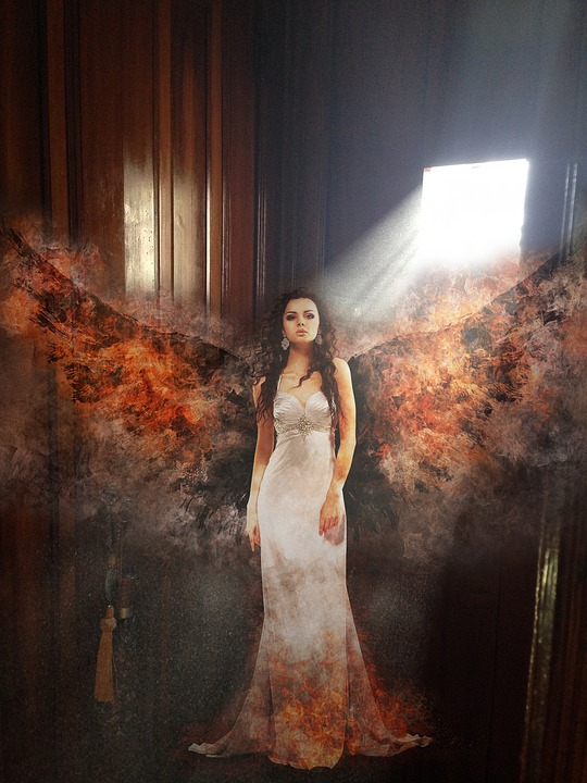 Angel, Fire, Church, Confession, Flame, Light, Design