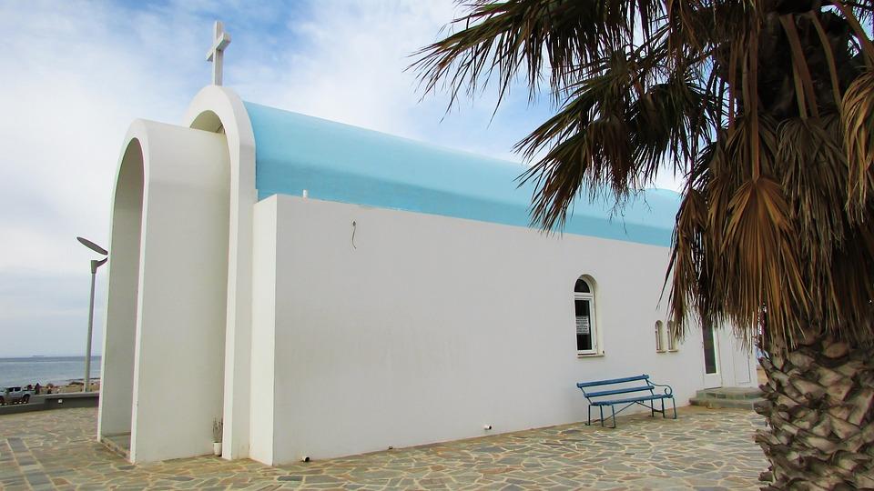Cyprus, Paralimni, Ayia Triada, Church, Architecture