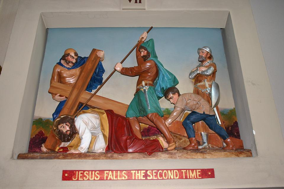 Catholic Station, Church Diorama, Christ, Crucifixion