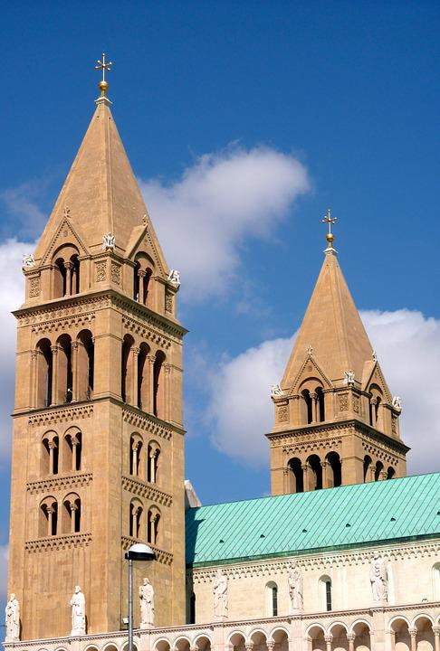 Hungary, Pécs, Dom, Church, Towers, City, Five Churches