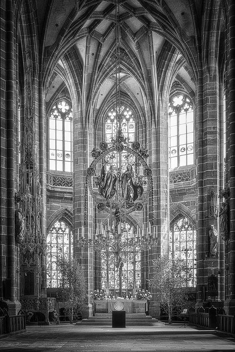 Church, Nuremberg, Dom, Building, Gothic