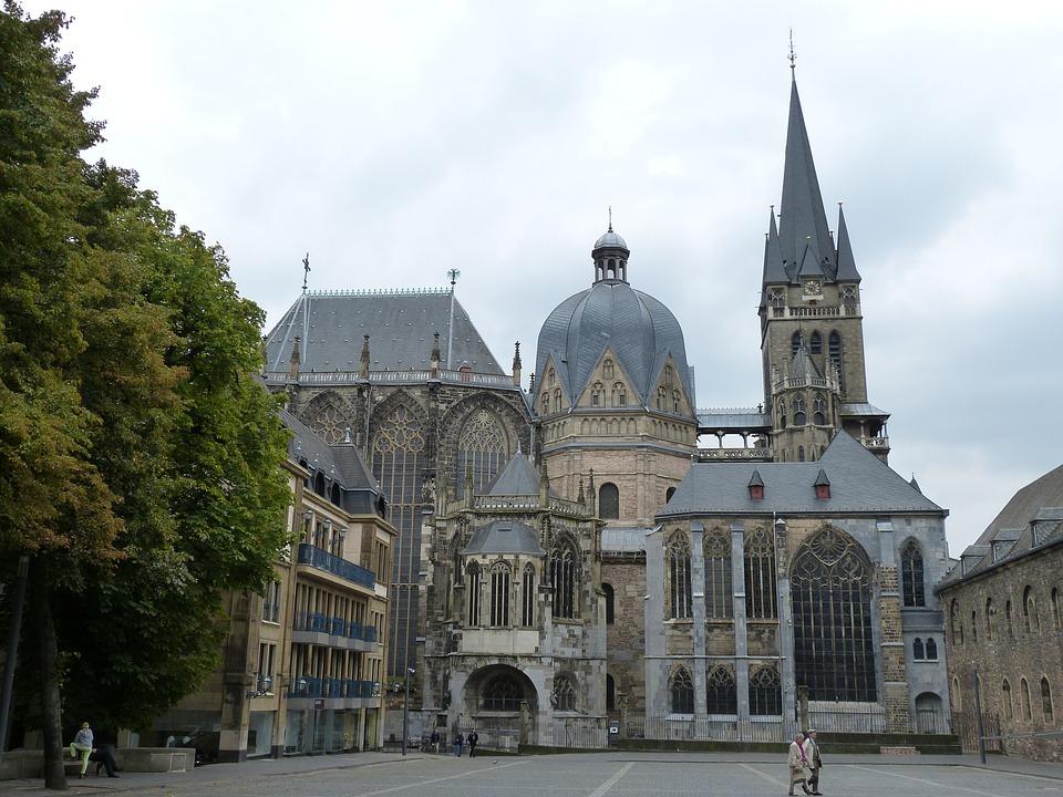 Aachen, North Rhine Westphalia, Dom, Gothic, Church
